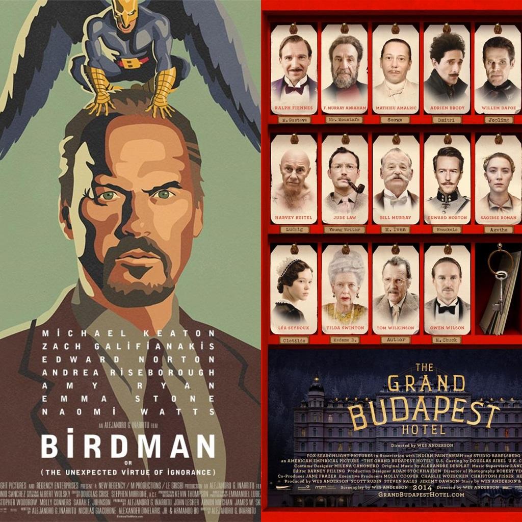 Birdman y El Gran Hotel Budapest