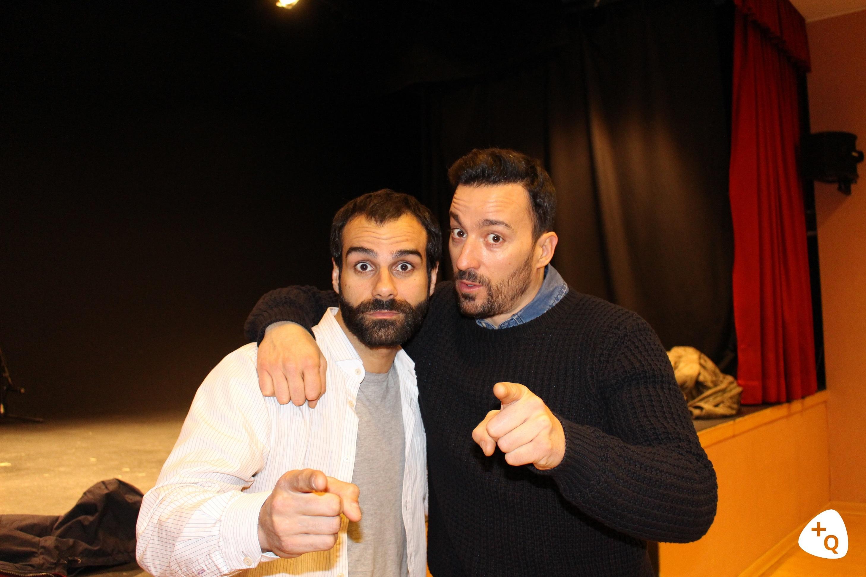David Ordinas y Pablo Puyol, protagonistas de 'Venidos a menos'. © Paloma Martos
