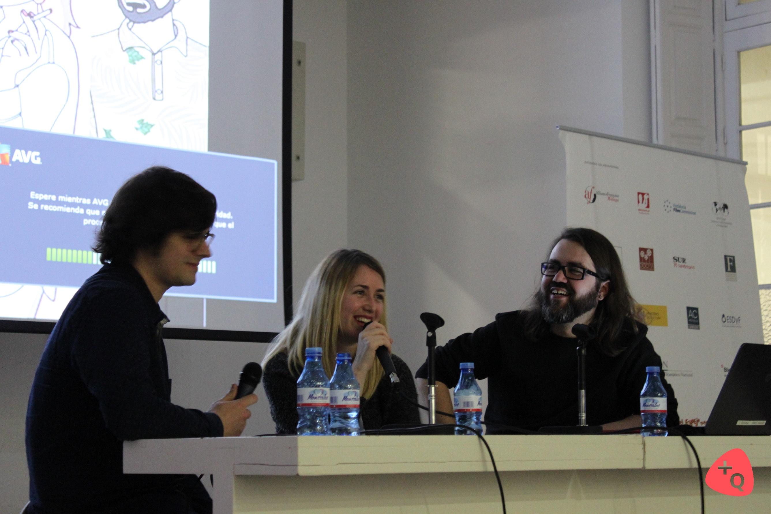 Raquel Córcoles, Carlos Carrero y Borja Crespo en La Térmica (© Belén Ruiz)