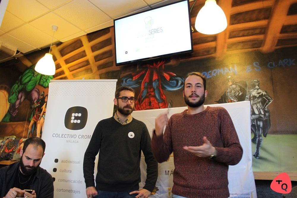 Sergio Martín de Colectivo CROMA y Francis Arrabal en BirraSeries (© Belén Ruiz)