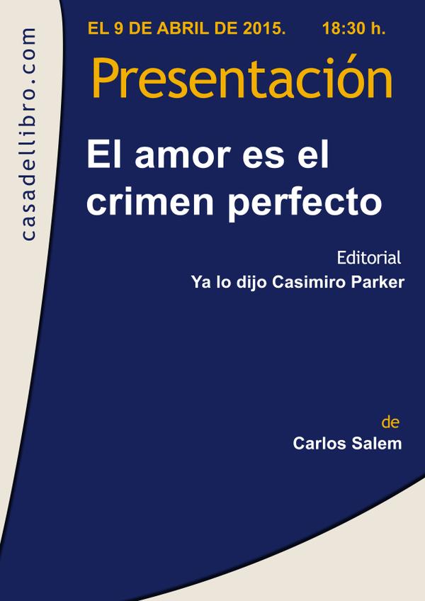 Libro 'El amor es el crimen perfecto'