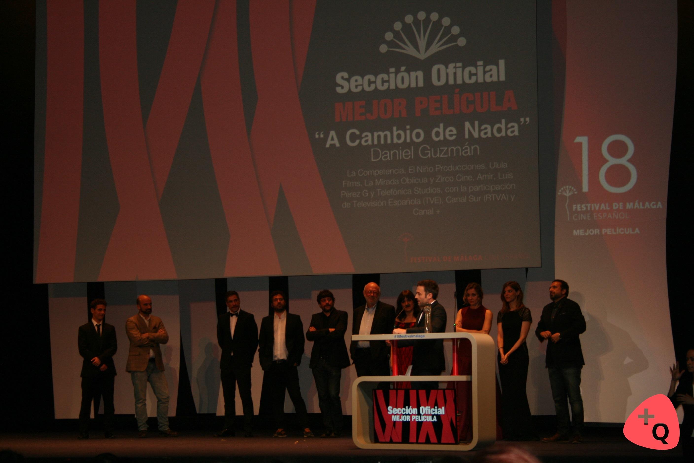 Daniel Guzmán recogiendo uno de los premios (©Alicia Martín)