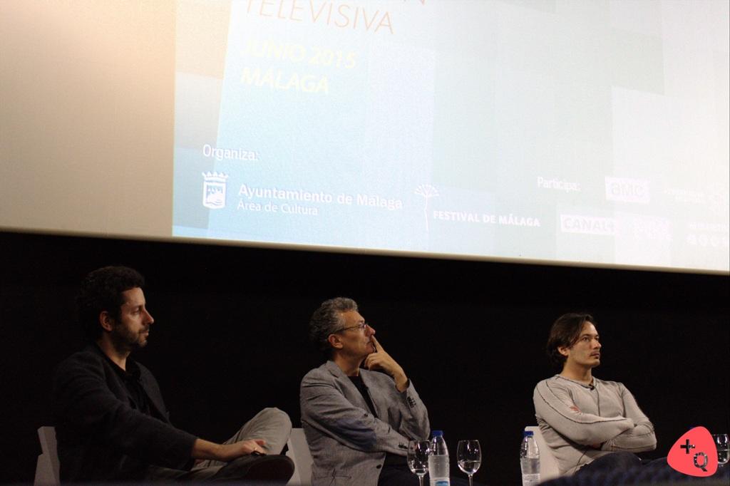 De izq. a dch. Manuel Ríos San Martín, Carlos López y Alberto Caballero (© Belén Ruiz)