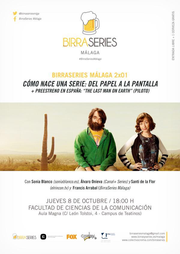 Cartel presentación de la segunda temporada de BirraSeries Málaga