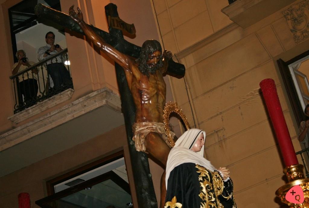 El Cristo de la Buena Muerte y la Soledad de Mena en el centenario de la Congregación (© 2015 Alicia Martín)