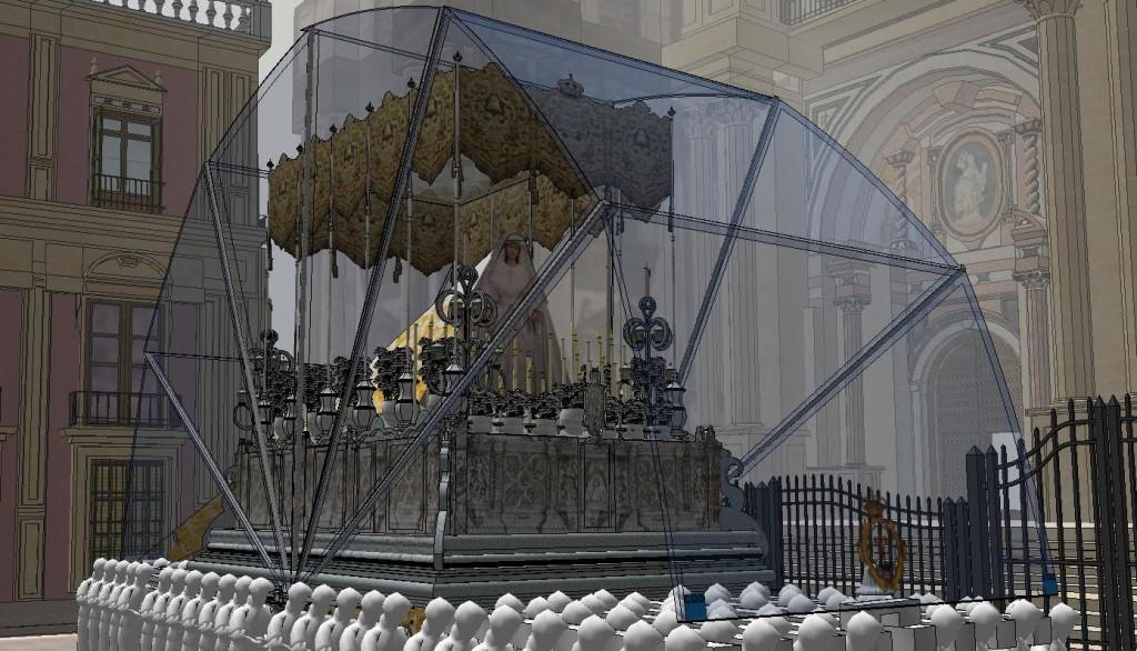 Capota para el trono de María Santísima del Rocío