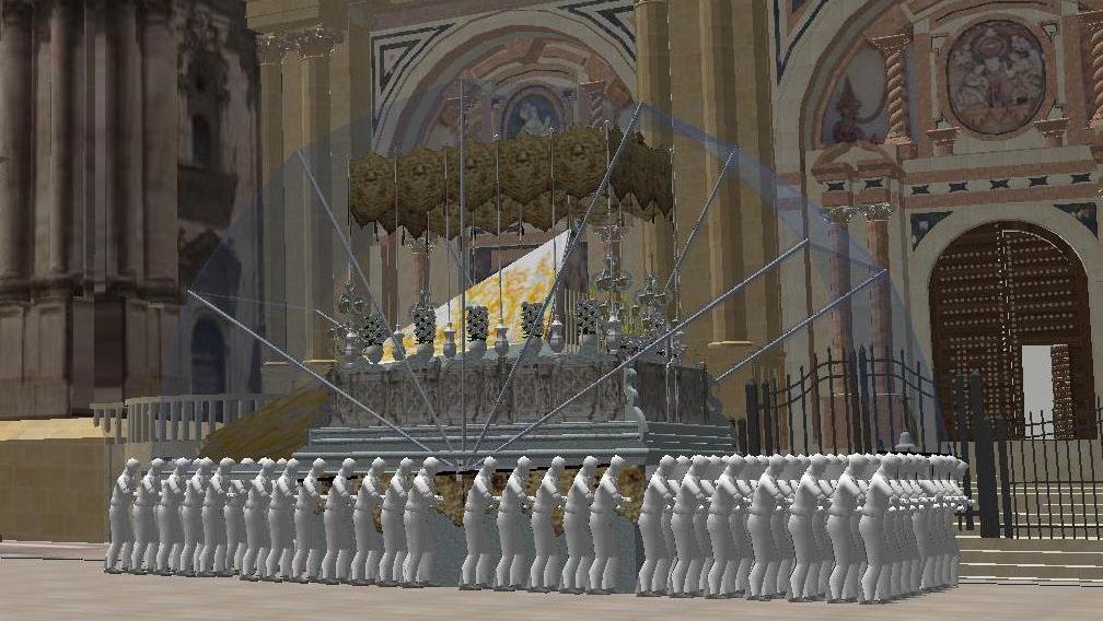 Capota para el trono de la Virgen del Rocío