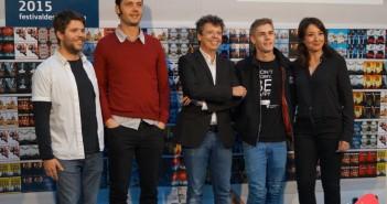 Pablo Tébar, Alberto Manzano, Juan Carlos Cueto, Patrick Criado y Rocío Martínez Llano (© 2015 Ashley Jáñez)