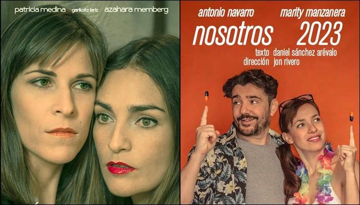 Carteles de los microteatros 'La última actriz humana' y 'Nosotros 2023'