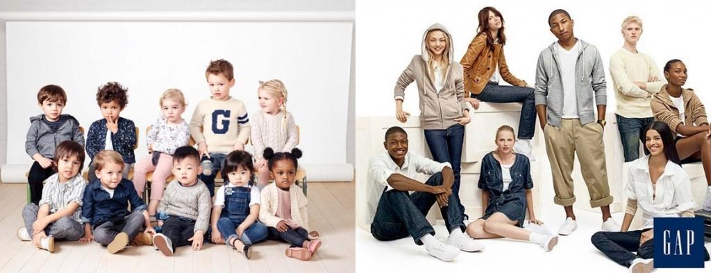 Fotos promocionales de Gap