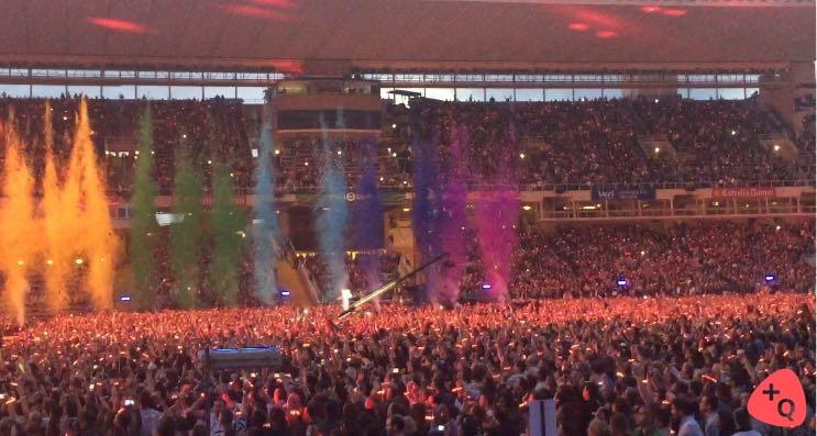 Concierto de Coldplay en Barcelona (© 2016 Carmen Manzano)