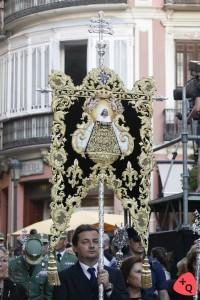 Estandarte de coronación de la Soledad de Mena, ejecutado por Joaquín Salcedo (© 2016 Alicia Martín)