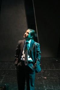 Alessandra García en el ensayo de 'El proceso'