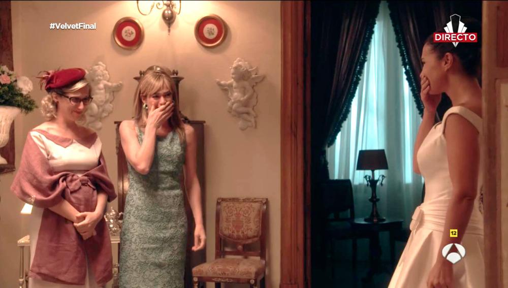 Cecilia Freire, Marta Hazas y Paula Echevarría no pudieron evitar las lágrimas en las escenas en directo de 'Velvet'