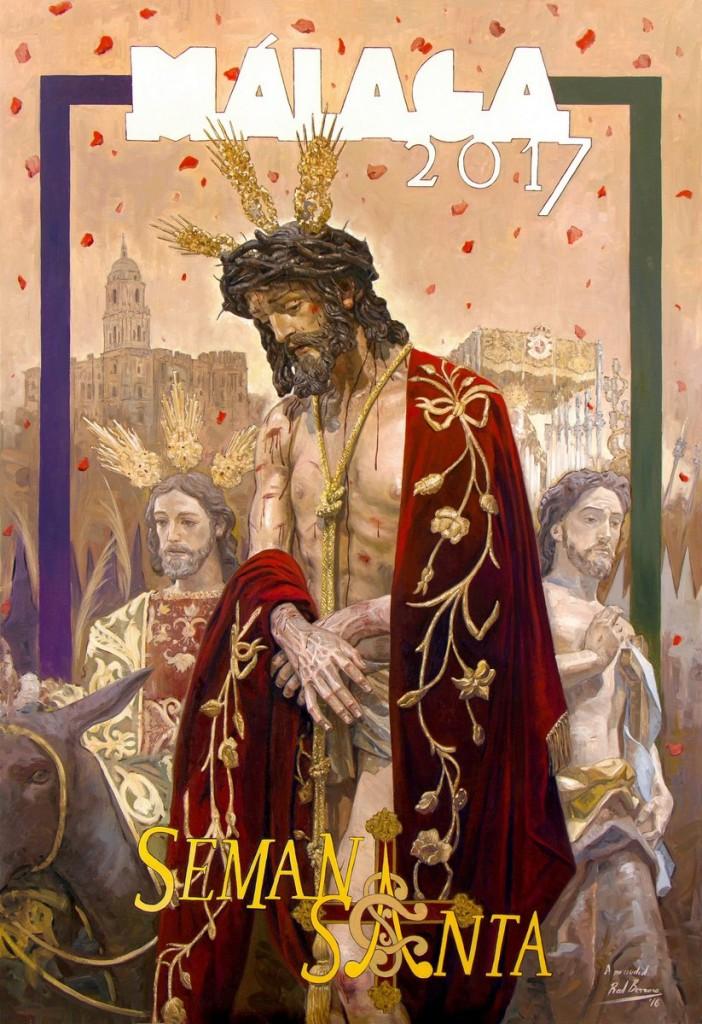 Cartel de la Semana Santa de Málaga 2017, obra de Raúl Berzosa