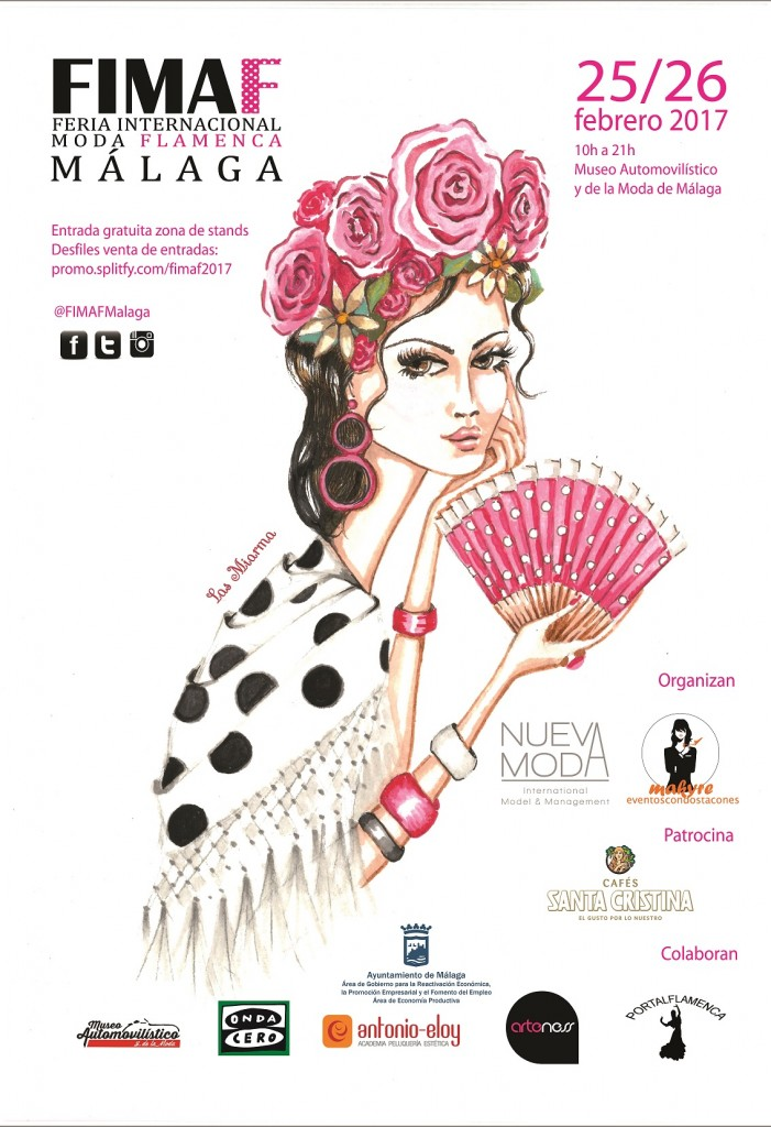 Cartel de la Feria Internacional de Moda Flamenca de Málaga 2017