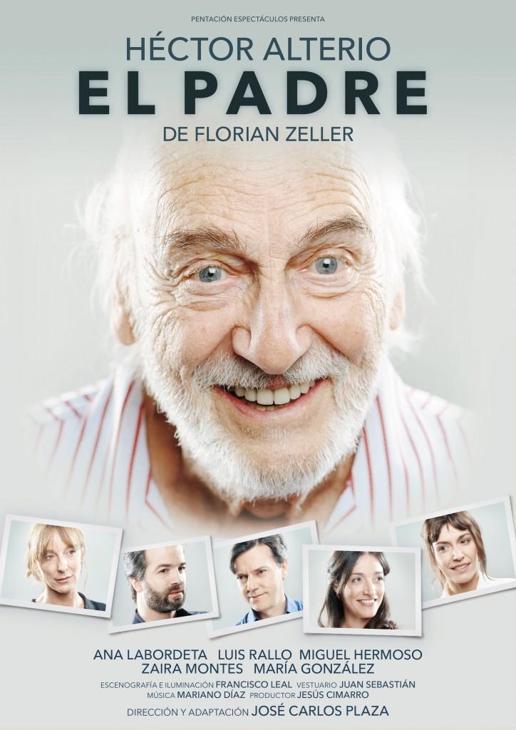 Cartel de la obra 'El padre', protagonizada por Héctor Alterio