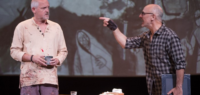 'El pintor de batallas' desembarca en el Teatro Cervantes con Jordi Rebellón y Alberto Jiménez