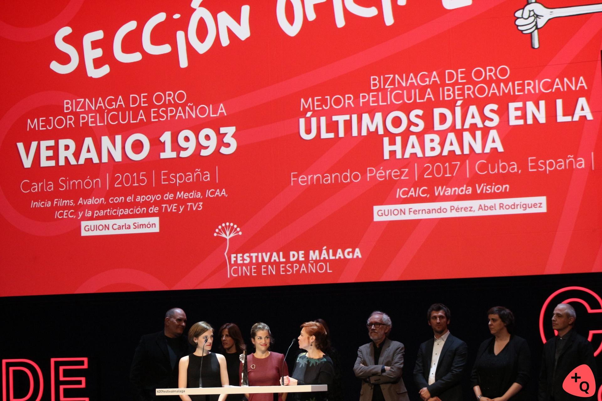 Biznagas de Oro a Mejor película (© 2017 Paloma Martos)