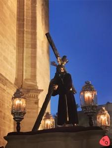 Nazareno Redentor del Mundo en su primera salida procesional