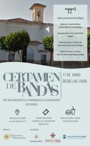Cartel del certamen de bandas organizado por la Hermandad de la Mediadora