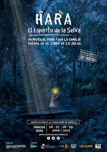 Cartel del musical en el Jardín Botánico