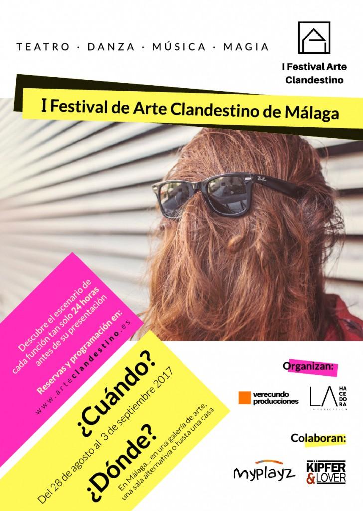 Cartel oficial del I Festival de Arte Clandestino