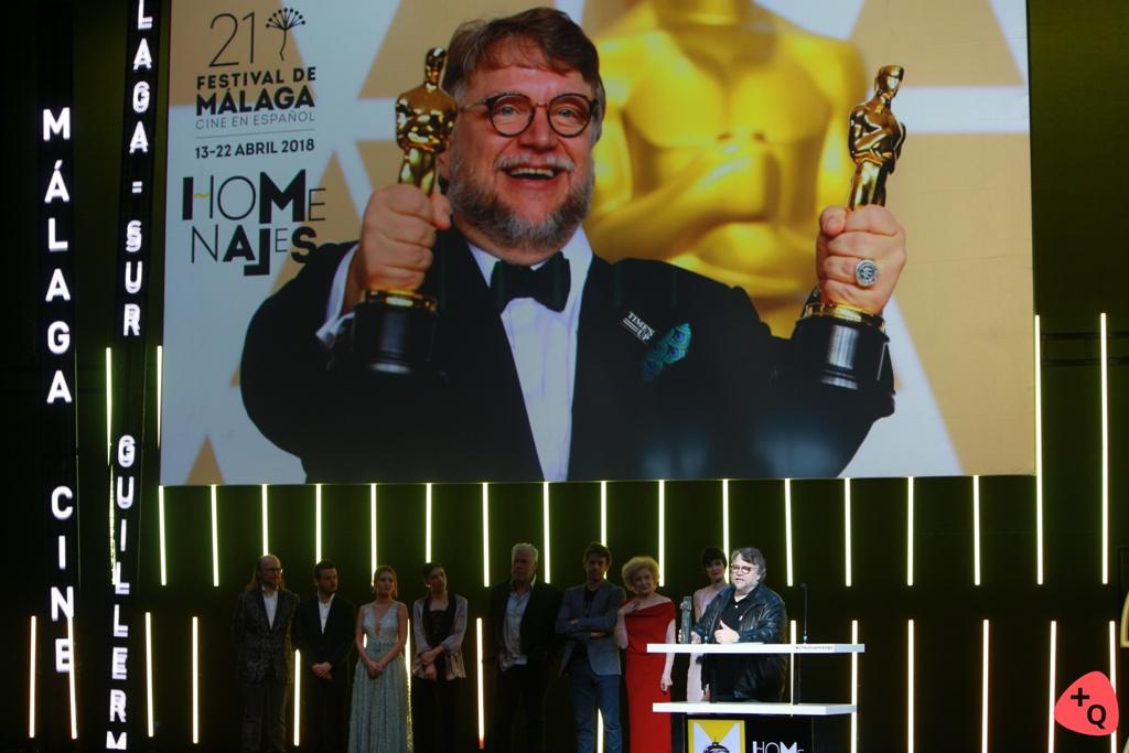 Guillermo del Toro en un momento del homenaje (© 2018 Paloma Martos)