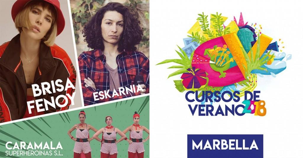 Cartel del festival con Brisa Fenoy, Eskarnia y Caramala